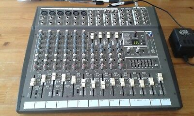 PHONIC MM1805X 18 Input Sound Mixer with 255 Effects 7-band graphic EQ