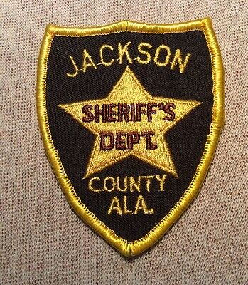 AL Jackson County Alabama Sheriff Patch (3.5In)