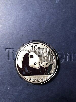 2011 Chinese Panda 1 oz Silver Coin In Mint Capsule/ Brilliant Uncirculated
