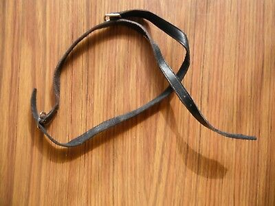 Black Leather Spur Straps Used