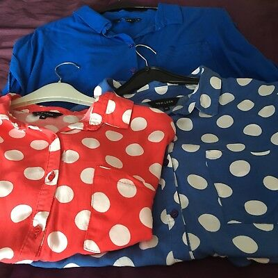 3 Summer Shirts / Blouses New Look, Size 14