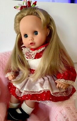 "GOTZ 13"" BABY DOLL Blonde Rooted Hair Dressed Comparable to Bitty Baby"