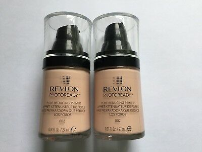 x2 REVLON PHOTOREADY - pore reducing primer 002 - 27ml - new & unused -free p&p