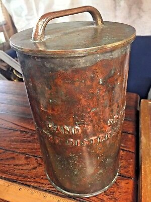 "Ww2 Copper/bronze Ship's Flare Canister 11"" Tall 6 1/2"" Diameter Amazing Patina!"