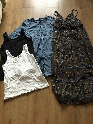Ladies Next Maternity Bundle Size 16, Vest Tops, Denim Dress & Maxi Dress