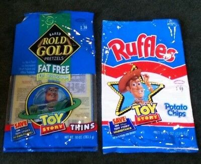 Rold Gold Pretzels and Ruffles Empty Bag - Disney Toy Story - Buzz and Woody