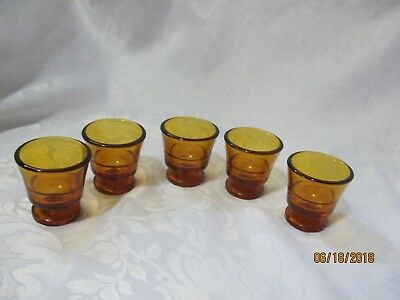 DURALEX Amber 5 Mini Glasses for sale !