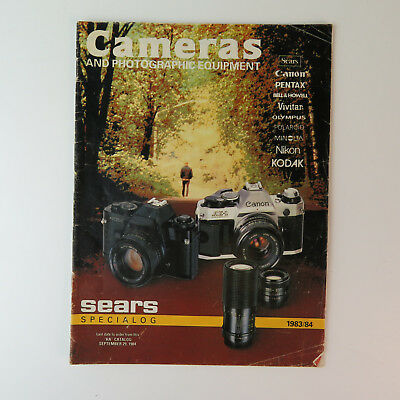 1983-1984 Sears Camera Catalog Canon AE-1 VTG Photography Advertising Book