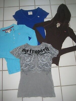 Lot Of 4  Size   Xs - S  Hollister, Abercrombie, Metropark Tops