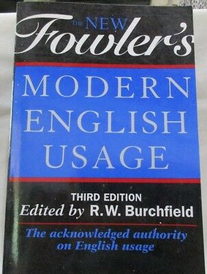 Fowlers Modern English Usage 3rd Edition 1996 Oxford Publishing Paperback