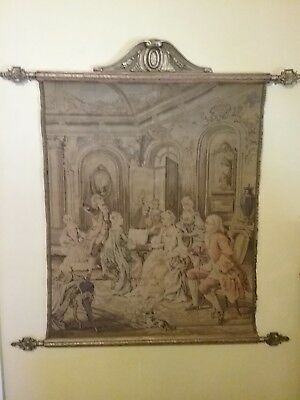 Outstanding, Vintage Tapestry, Beautifully Hung From Decorative Spear Rods.