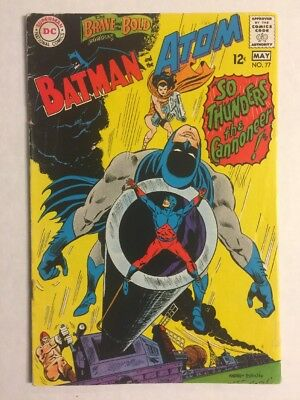Brave And The Bold #77 Gd Batman Atom May 1968 Ross Andru Loose Centerfold