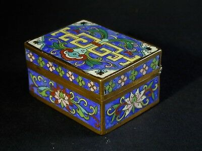 An Antique Chinese Cloisonne Box - Ming or Qing Dynasty, 16th - 18th Century