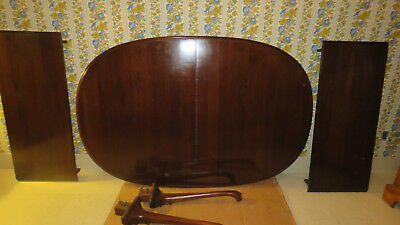 Ethan Allen Georgian Court Oval Extension Table 11 6214 Solid Cherry
