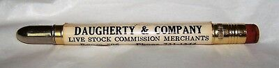 Vintage DAUGHERTY & CO. Omaha Stock Yards bullet pencil, very nice