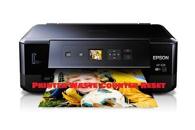 EPSON XP-520 PRINTER WASTE INK PAD RESET DISC/TOOL NEW - Digital Download