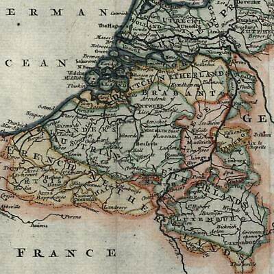 United Provinces Netherlands c.1756 charming decorative old map lovely example
