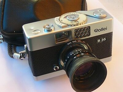 """Vintage ROLLEI B35 Miniture 35mm """"Vest Pocket Camera"""" with Zeiss lens"""