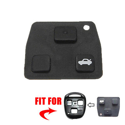 Replacement 2 / 3 Button Car Remote Key Black Rubber Pad Fit For Toyota Avensis