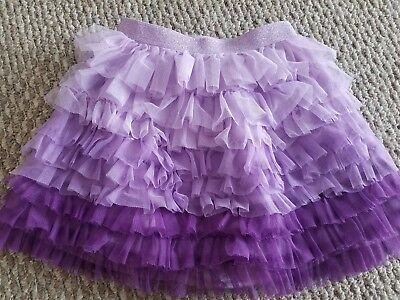 Girls Size 6x/7 CHILDRENS PLACE TCP Purple 2 Tone Tulle Skirt