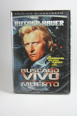 Wanted: Dead or Alive DVD NEW Rutger Hauer RARE Spanish Cover Version See Pics