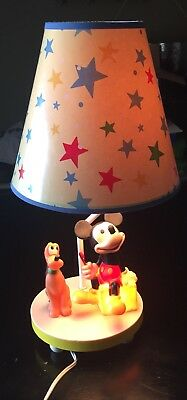 Vintage Disney Mickey Mouse And Pluto Lamp