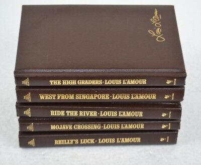 Louis L'Amour Leatherette Books Lot of 5, Mojave Crossing, High Graders etc #2