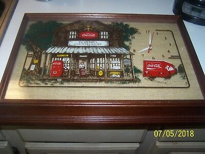 Coke Cola clock- ED HENRY'S COUNTRY STORE Hanover very nice works great