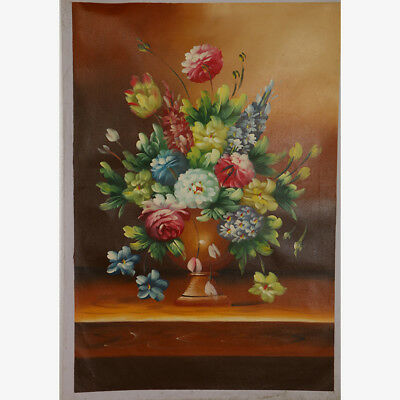 """Hand-painted Oil Painting On Canvas - Pained Floral 36""""x24"""" DYH040"""