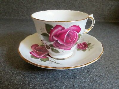 Royal Kent Bone China Tea Cup and Saucer Red Rose Made In Staffordshire England