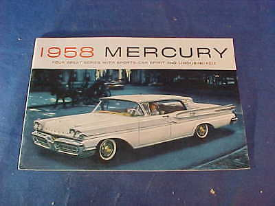 Orig 1958 MERCURY Dealers ADVERTISING BOOKLET