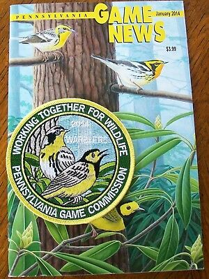 Pa Pennsylvania Game News January 2014 & Matching 2014 Warblers  Patch Wtfw