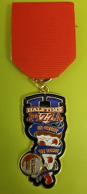 """2018 Fiesta Medal HALFTIME PIZZA """"IN CRUST WE TRUST"""" with spinner"""