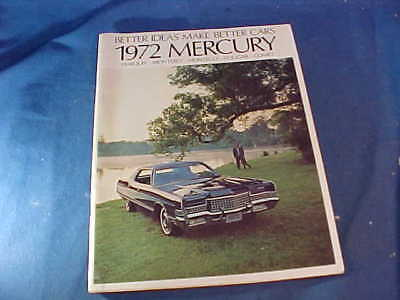 Orig 1972 MERCURY Dealers ADVERTISING BOOKLET-Marquis-Cougar-Comet-Montego +