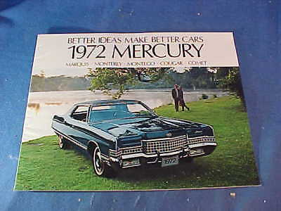 Orig 1972 MERCURY Dealers ADVERTISING BOOKLET