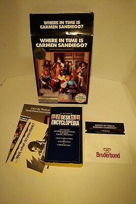 Vintage Where in Time is Carmen Sandiego for Commodore 64 / C64 IOB Floppy Disk