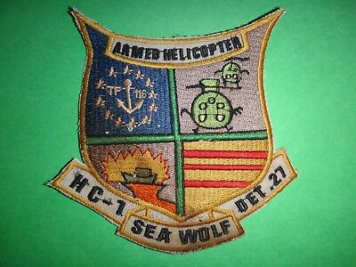 US Navy TF-116 ARMED HELICOPTER HC-1 DET. 27 SEAWOLF Patch