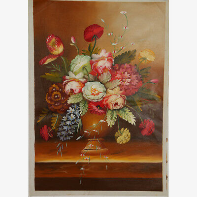 """Hand-painted Oil Painting On Canvas - Pained Floral 36""""x24"""" DYH042"""