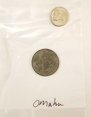 Original WW2 British Coin Recovered at Omaha Beach Normandy France D-Day