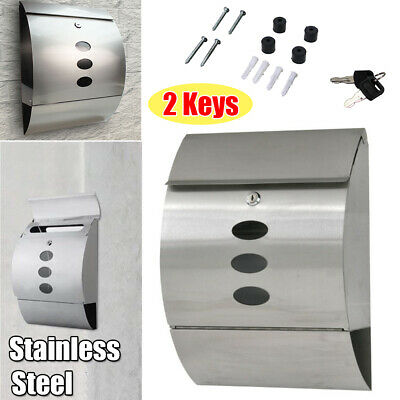 Stainless Steel Wall Mount Mailbox for House / Home Residential Modern Decor