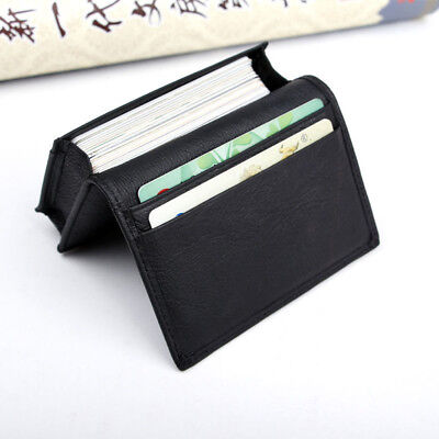 Men's Genuine Leather Expandable Credit Card ID Business Card Holder Wallet Case