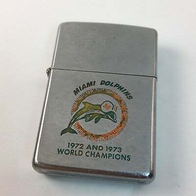 1973 1972 Miami Dolphins Champions Undefeated Zippo - NFL Football Sports