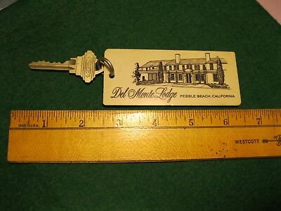 Vintage Del Monte Lodge hotel Pebble Beach key fob tag rm.141 near golf course