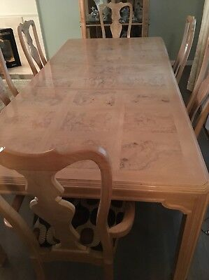 Drexel Heritage Corinthian Dining Set: Table, Leaf, 6 Chairs $900