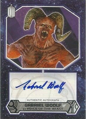 2015 Topps Doctor Who Gabriel Woolf as Voice Of The Beast Autograph Auto Card