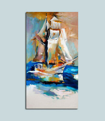 """MODERN ABSTRACT Hand-Painted OIL PAINTING CANVAS """" Make sail""""(No Frame)"""