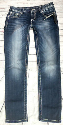 Nwt! Miss Me Signature Skinny Jeans Embellished Stretch! Tag 31 Measured 33X30.5
