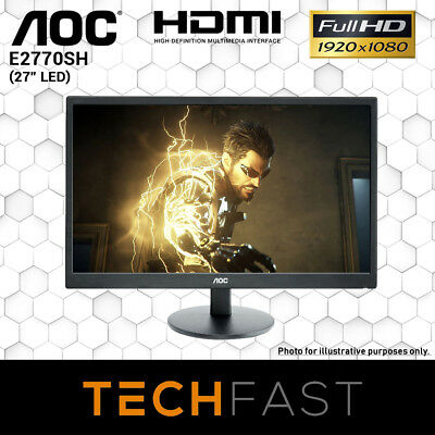 "AOC E2770SH 27"" Full HD Narrow Bezel LED LCD Gaming Office Monitor"