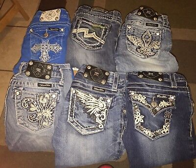 Miss Me jeans Capri and shorts  kids size 10 And 12.  Six In Lot