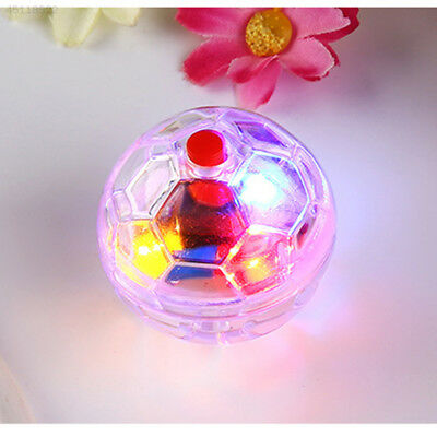 Plastic Clear Pet Dog Cat Kitten Supplies Flashing Ball Interactive Toy Moving